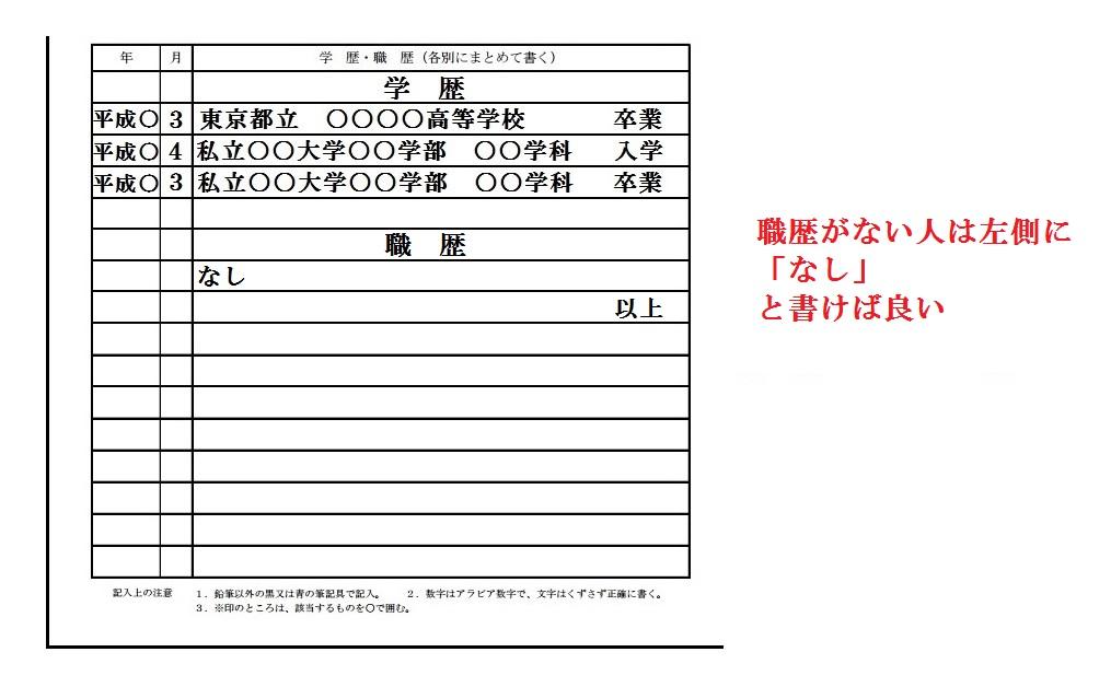 履歴書の書き方具体例9